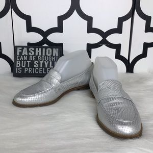 Nicole Silver Larry Loafers